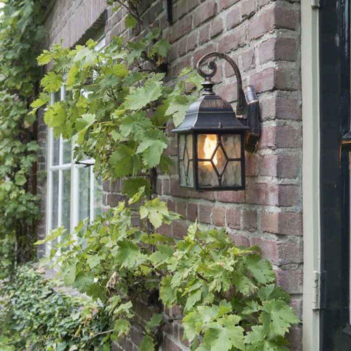 Романтичен-външен-фенер-за-стена-бронз---Лондон