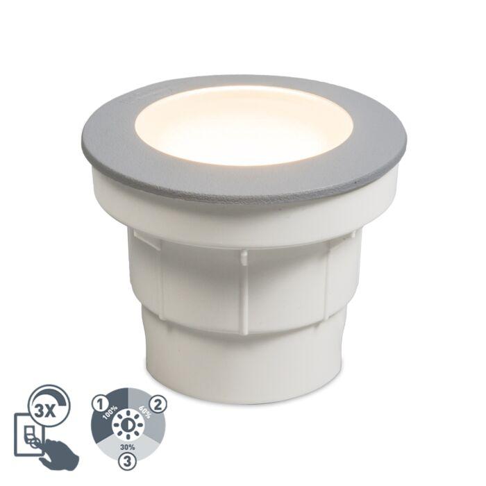 Модерен-външен-наземно-сиво,-вкл.-LED-IP67---Ceci