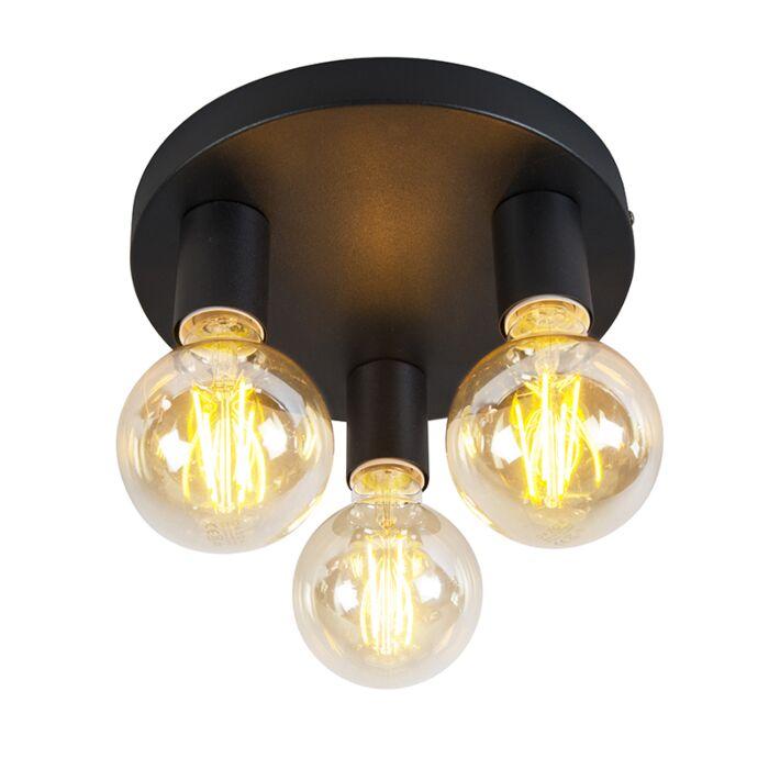Класическа-лампа-за-таван-черна---съоръжение-3