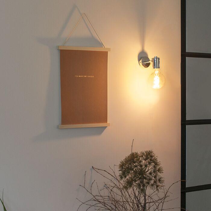 Модерна-стенна-лампа-хром---съоръжение-1