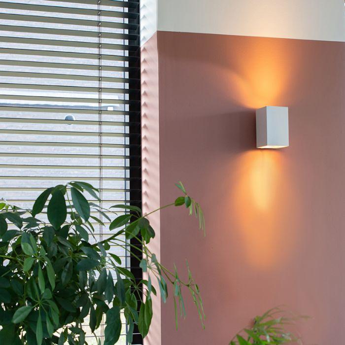 Модерна-стенна-лампа-квадратно-бяла---Пясъчна