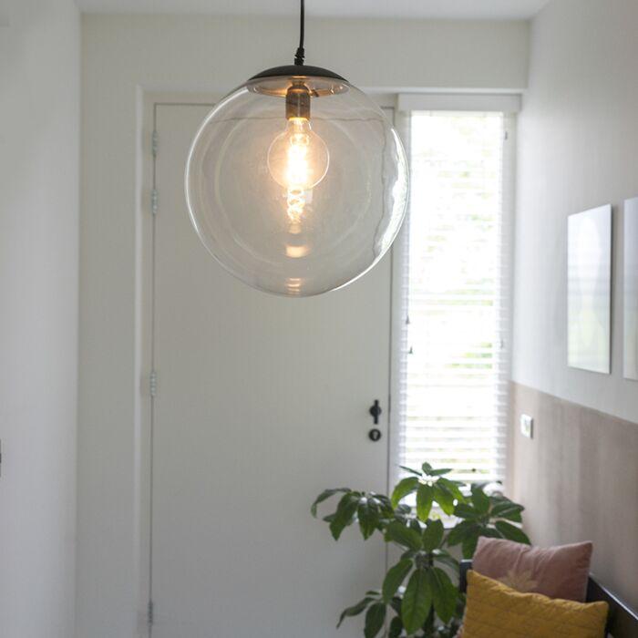 Модерна-висяща-лампа-прозрачна-35-см---Pallon