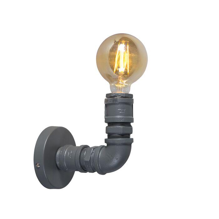 Промишлена-стенна-лампа-тъмно-сива---водопроводчик-1