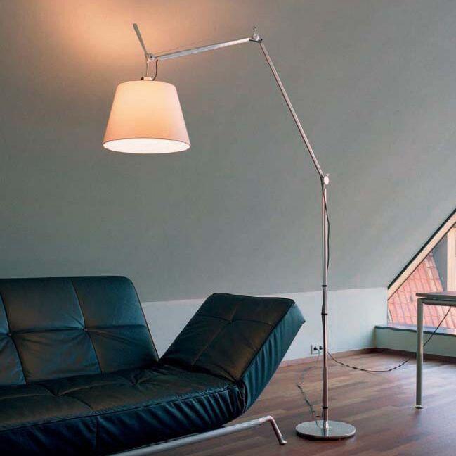 Подова-лампа-алуминиева-със-сенник---Artemide-Tolomeo-Mega-Terra