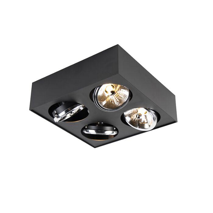 Дизайнерско-квадратно-квадратче-4-светло-черно---Kaya
